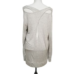 Athleta Open Back Modal Tunic Sweatshirt L